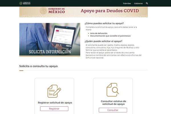 Inicia registro en línea de apoyos a familiares de fallecidos por Covid-19